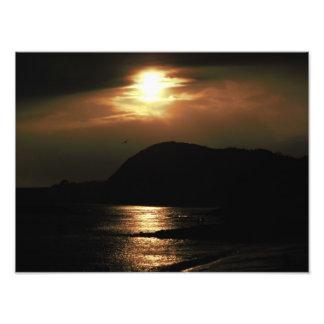 Sunset over Lyme Regis Photo Print