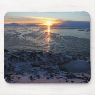 Sunset over McMurdo Sound, Antarctica Mouse Pad