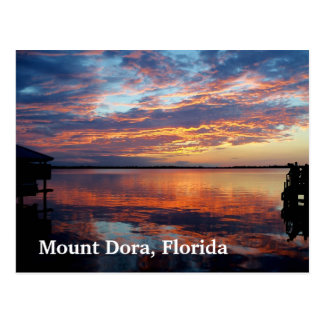Sunset over Mount Dora Florida post card photo art