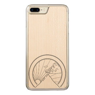 Sunset over mountains carved iPhone 8 plus/7 plus case