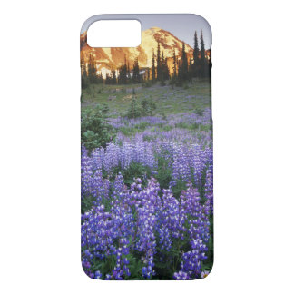 Sunset over Mt. Adams and a sub-alpine meadow iPhone 8/7 Case