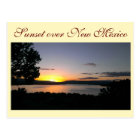 Sunset over New Mexico Postcard