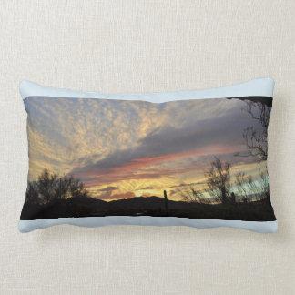 Sunset Over New River Accent Lumbar Throw Pillow