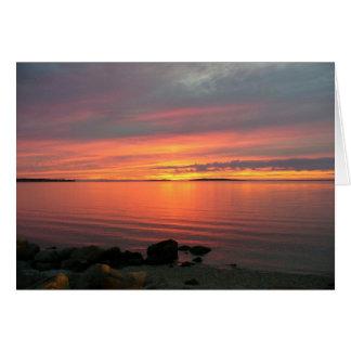 Sunset Over Noyac Bay Card
