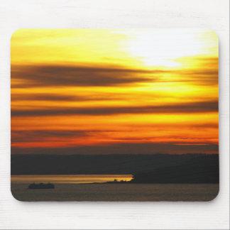 Sunset over Puget Sound Mousepad