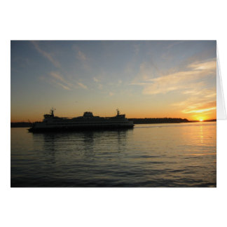 Sunset over Puget Sound, Seattle Card