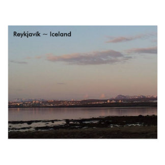 Sunset over Reykjavík, Iceland Post Cards