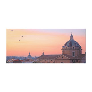 sunset over Rome Canvas Print