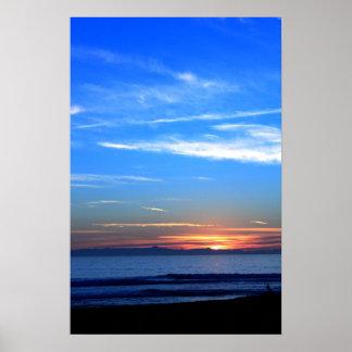 Sunset Over Santa Cruz Island Print