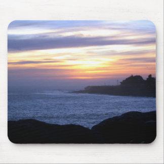 Sunset over Santa Cruz Mouse Mat