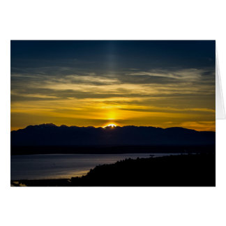 Sunset Over Seattle Greeting Card