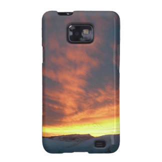 Sunset Over Snowy Hills Case Galaxy S2 Covers
