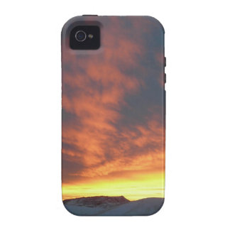 Sunset Over Snowy Hills Case Vibe iPhone 4 Cover