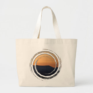 Sunset Over Snowy Mountains Jumbo Tote Bag