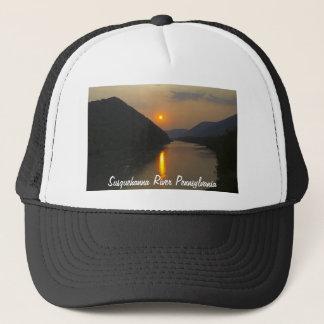 Sunset over Susquehanna River Pennsylvania Trucker Hat