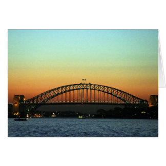 Sunset over Sydney Harbor Bridge, Australia Card