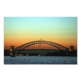 Sunset over Sydney Harbor Bridge, Australia Photo Print
