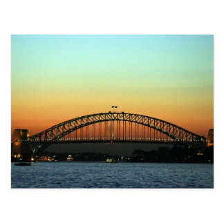 Sunset over Sydney Harbor Bridge, Australia Postcard