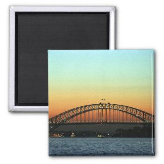 Sunset over Sydney Harbor Bridge, Australia Square Magnet
