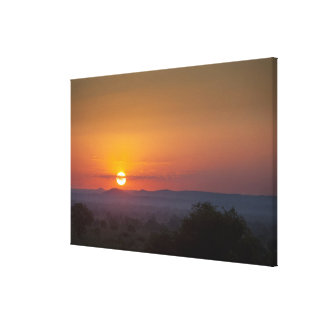 Sunset Over The African Landscape Canvas Print