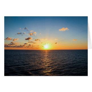 Sunset Over The Atlantic Ocean Card