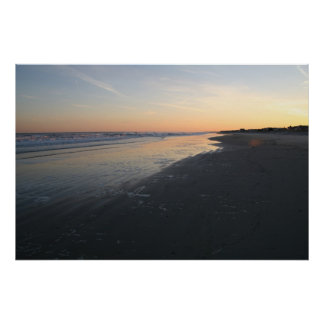 sunset over the atlantic poster