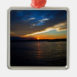 Sunset over the Bay Christmas Ornament