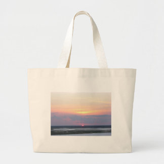 Sunset Over the Bay in Margate, NJ Jumbo Tote Bag