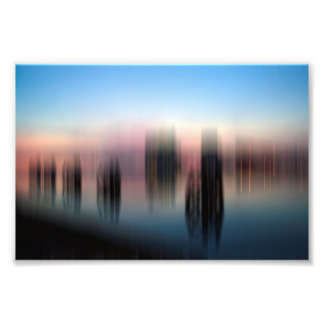 Sunset over the bay photo print