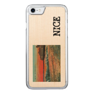 Sunset over the beach at Nice France Carved iPhone 8/7 Case
