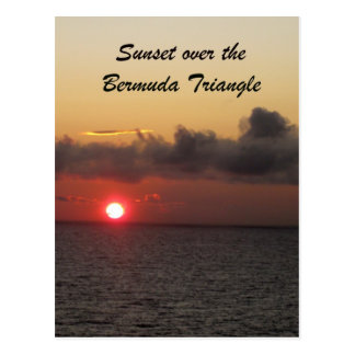 Sunset over the Bermuda Triangle Postcard