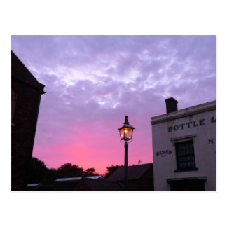 Sunset Over the Black Country Museum Postcard