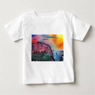 Sunset over the Castle Baby T-Shirt