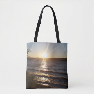 Sunset over the Columbia River Tote Bag