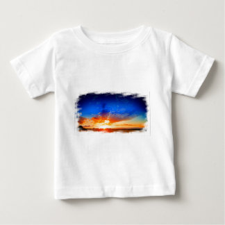 Sunset over the English countryside. Baby T-Shirt