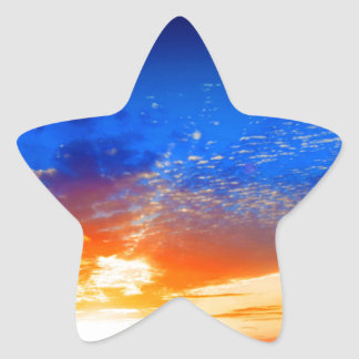 Sunset over the English countryside. Star Sticker