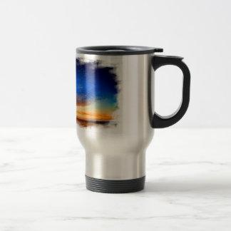 Sunset over the English countryside. Travel Mug