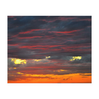 Sunset Over The Gulf Gallery Wrap Canvas