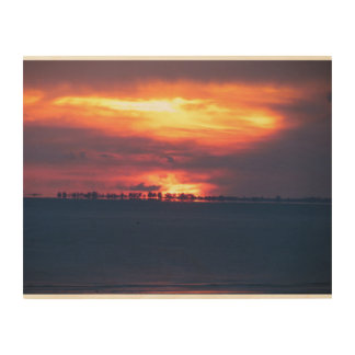 Sunset over the gulf wood canvases
