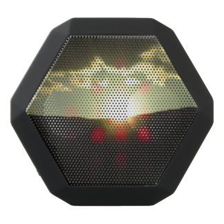 Sunset over the hill black bluetooth speaker