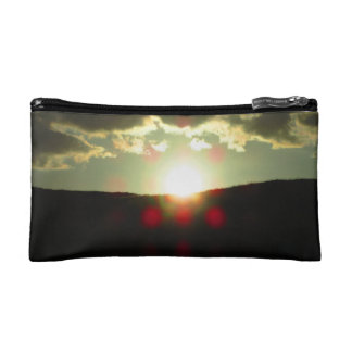 Sunset over the hill cosmetics bags
