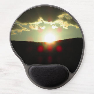 Sunset over the hill gel mouse pad