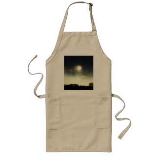 Sunset over the hill long apron