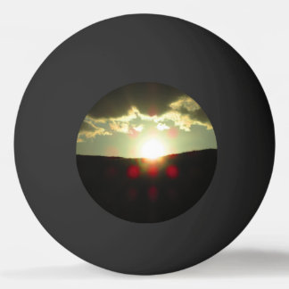 Sunset over the hill ping pong ball