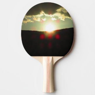 Sunset over the hill ping pong paddle