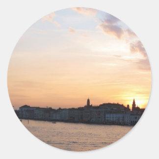 Sunset Over   the Lagoon, Venice Sticker