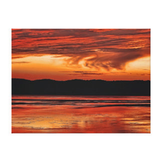 Sunset Over the Mississippi Canvas Print