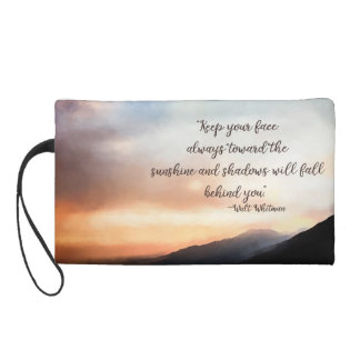 Sunset Over the Mountains Wristlet Cosmetic Bag