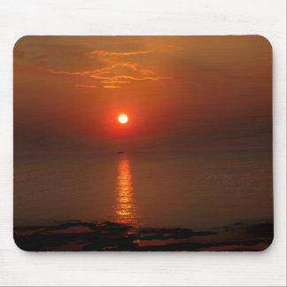 Sunset over the Ocean Mouse Mat