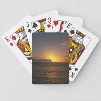 Sunset Over The Ocean Playing Cards